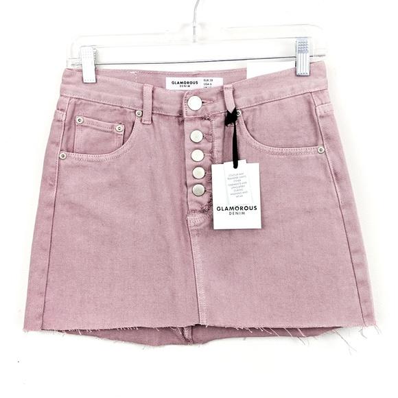 39259bd965 Glamorous Skirts | Dusty Pink Denim Cutoff Mini Skirt | Poshmark